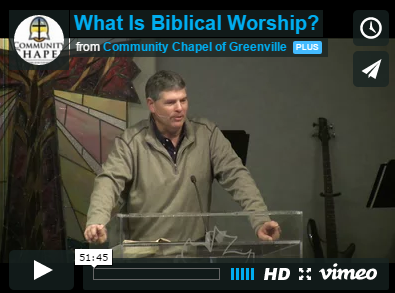 What is Biblical worship? And how does CCG do worship?